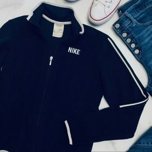 Nike Black ZIP Front Fleece Top M